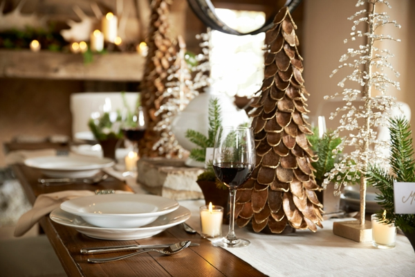 déco de table noël sapins de noël design