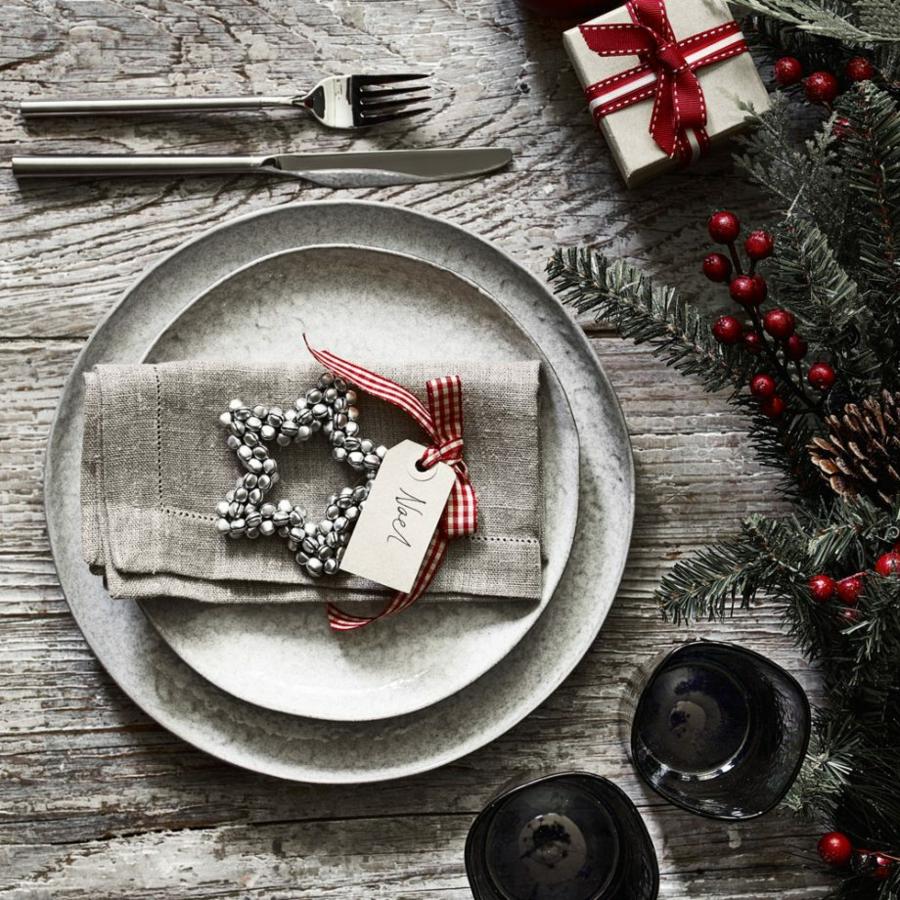 déco de table noël style rustique assiette effet marbre