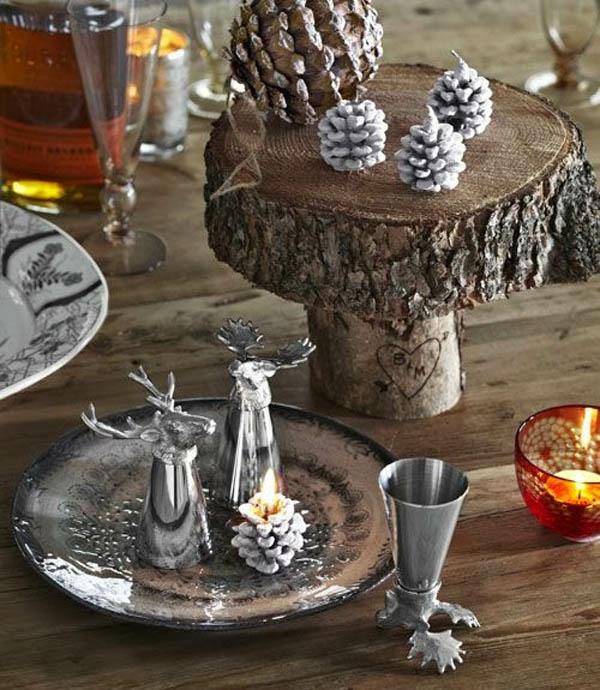 déco de table noël style rustique