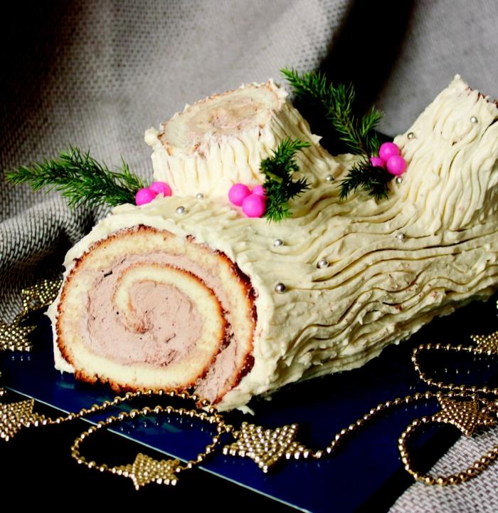 dessert délicieux décoration bûche de noël