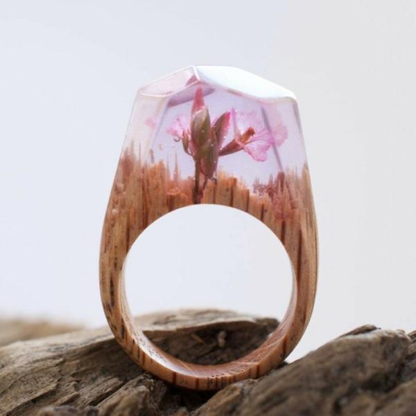 diy bijoux en résine bague fleur