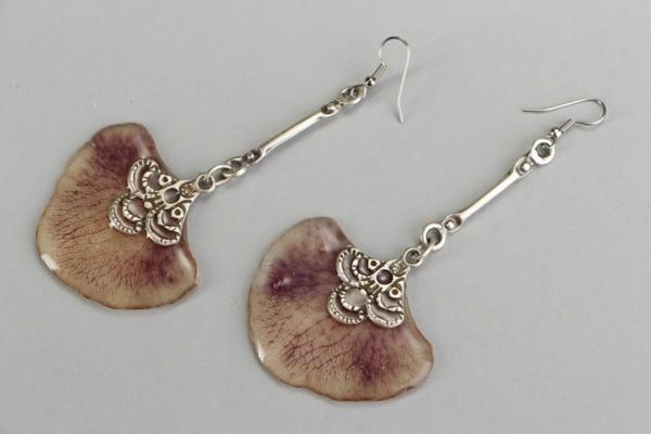 diy bijoux en résine boucles d'oreilles feuilles