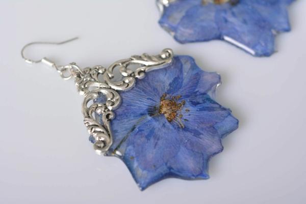 diy bijoux en résine boucles d'oreilles fleurs