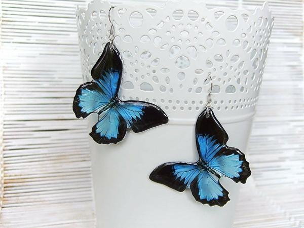 diy bijoux en résine boucles d'oreilles papillons