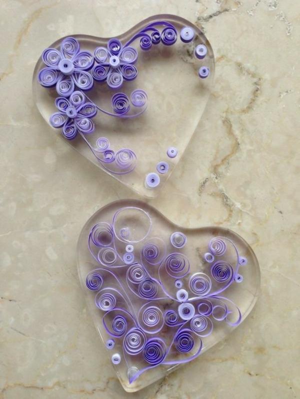 diy bijoux en résine boucles d'oreilles quilling