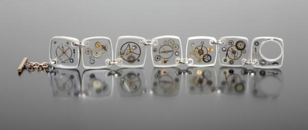 diy bijoux en résine bracelet éléments mécaniques