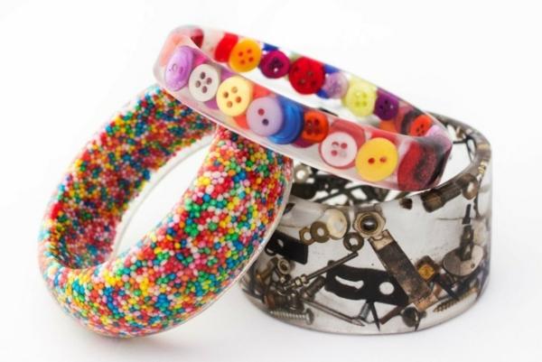 diy bijoux en résine bracelet design unique