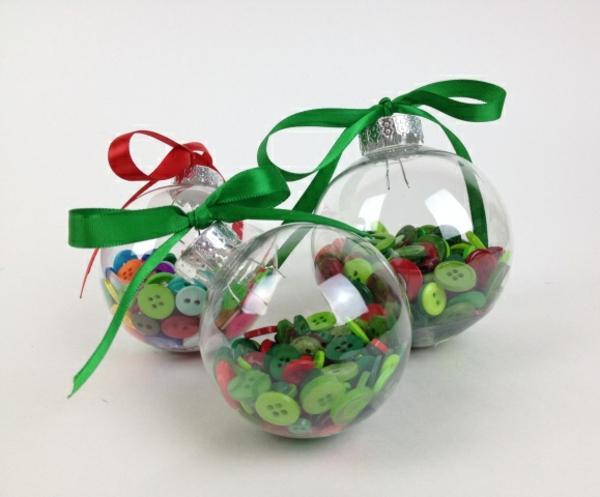 diy boule transparente boutons idée bricolage noël