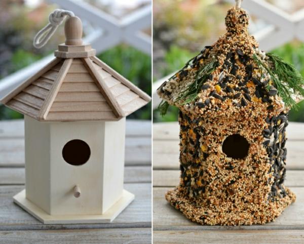 diy cabane mangeoire oiseaux graines graisse