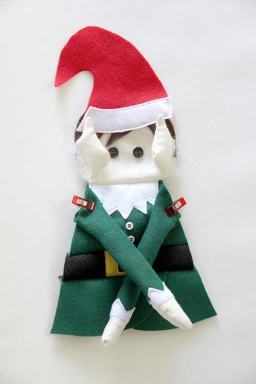 diy elfe de Noël épingler les bras