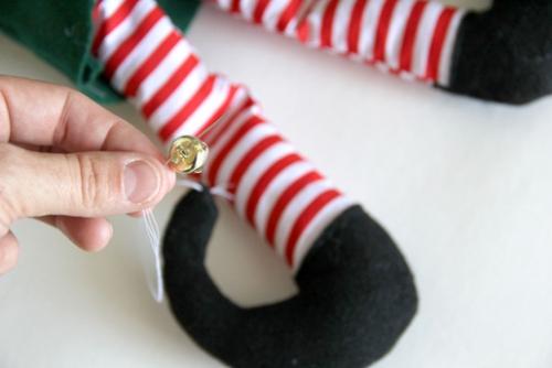 diy elfe de Noël de petits grelots