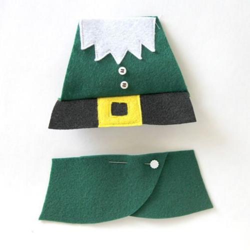 diy elfe de Noël encore un morceau