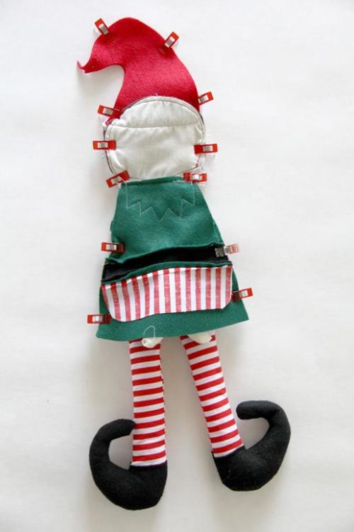 diy elfe de Noël la partie inverse