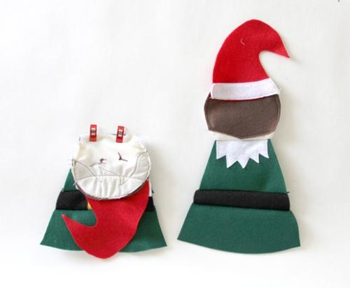 diy elfe de Noël le lutin se complète