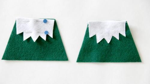 diy elfe de Noël le tissu vert
