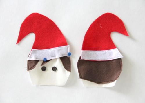 diy elfe de Noël tête et chapeau