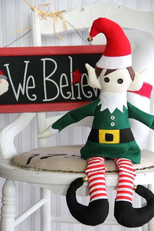 diy elfe de Noël un lutin sympa