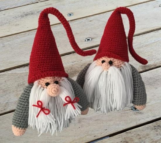 diy gnome de noël amigurumi crochet