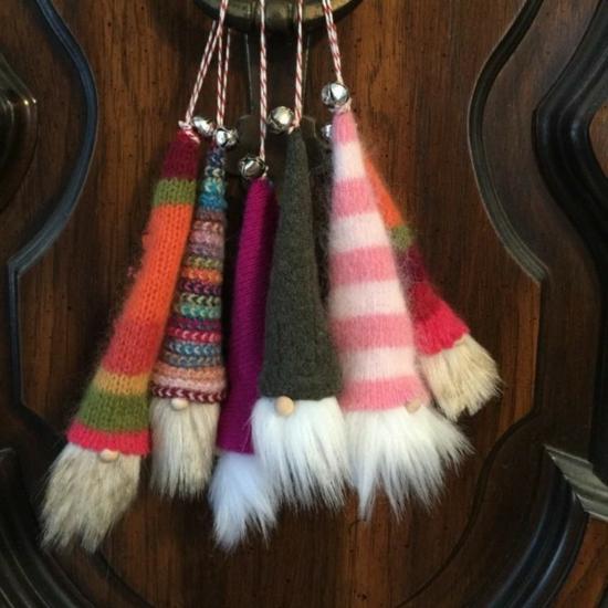 diy gnome de noël chaussettes colorées