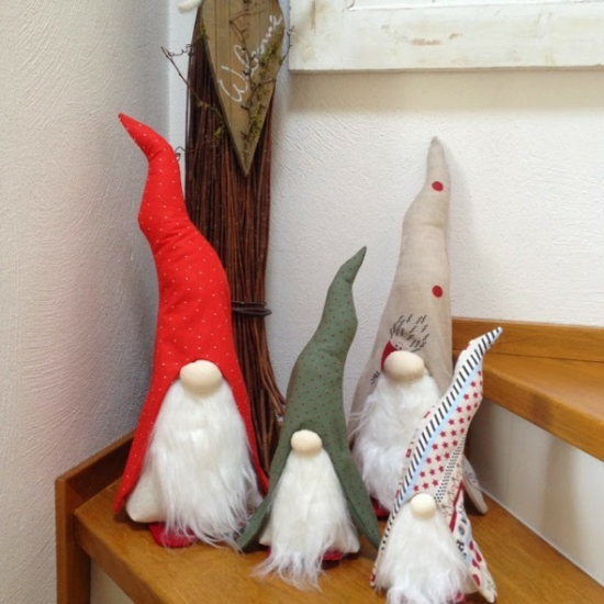 diy gnome de noël coton