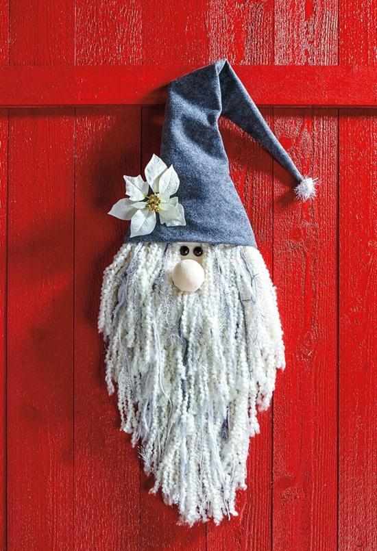 diy gnome de noël déco murale