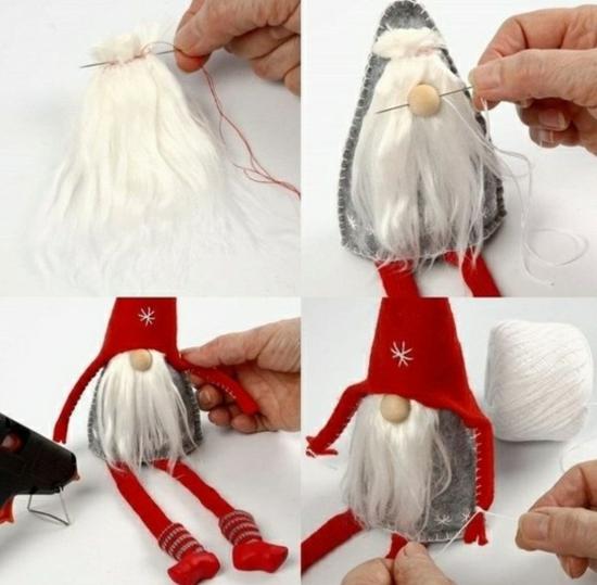 diy gnome de noël décoration