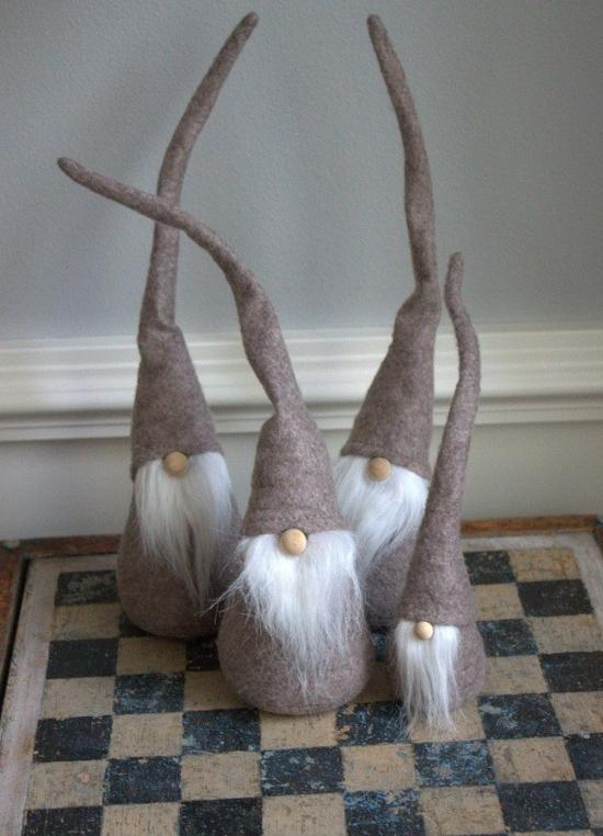diy gnome de noël en feutrine style rustique