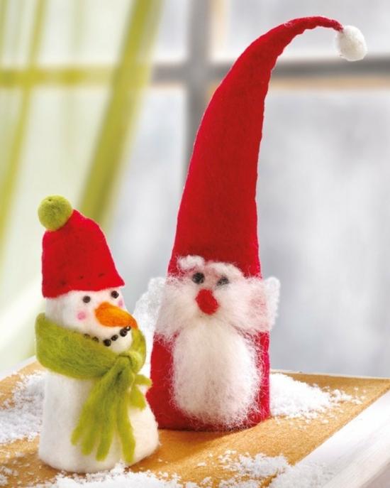 diy gnome de noël et bonhomme de neige
