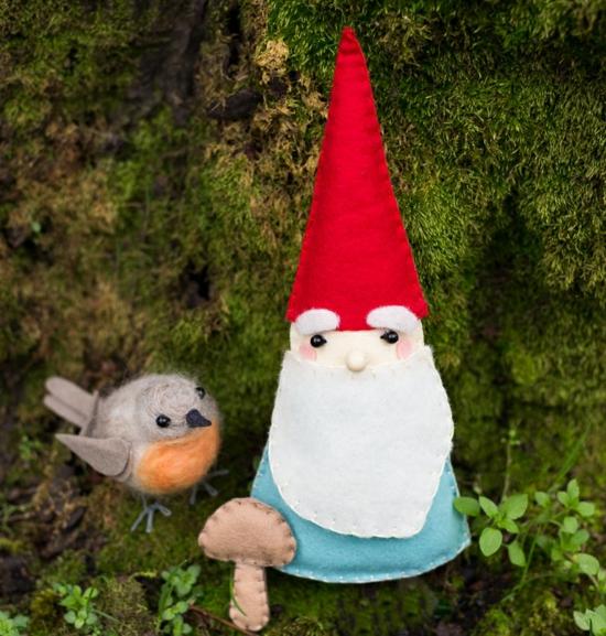 diy gnome de noël jardin