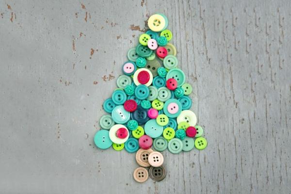diy ornement boutons idée bricolage noël