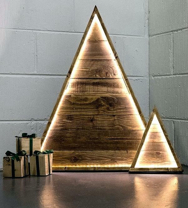 diy petit sapin de noël artificiel bois recyclé