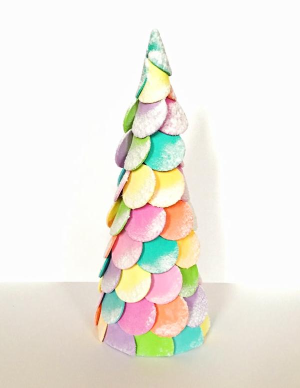 diy petit sapin de noël artificiel bonbons