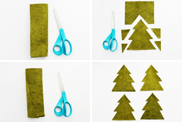 diy petit sapin de noël artificiel en feutrine instructions