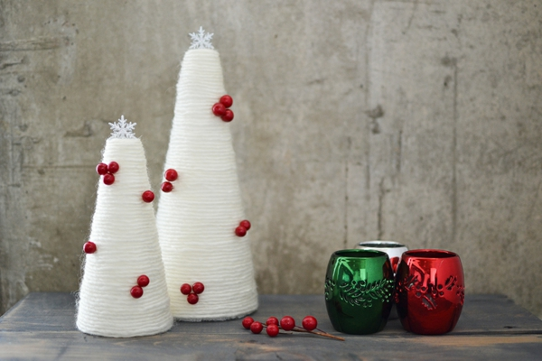 diy petit sapin de noël artificiel fil en cotton