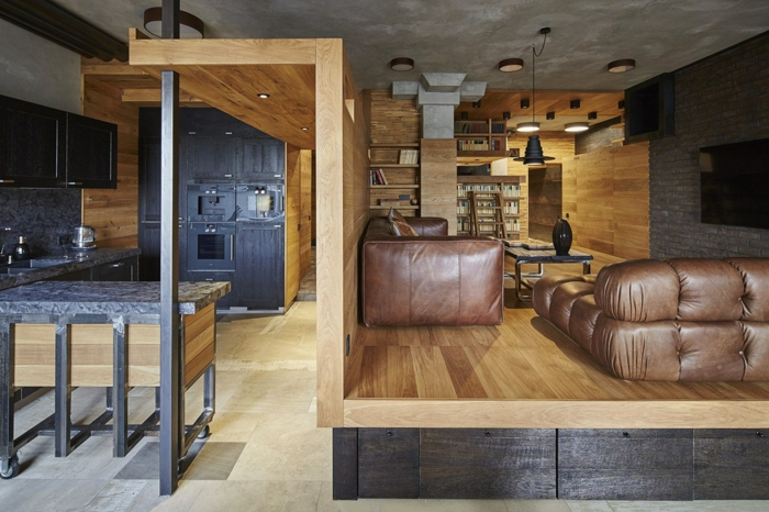 estrade en bois design et moderne