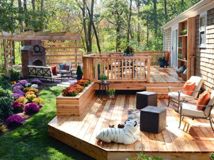 estrade en bois idée pour une terrasse