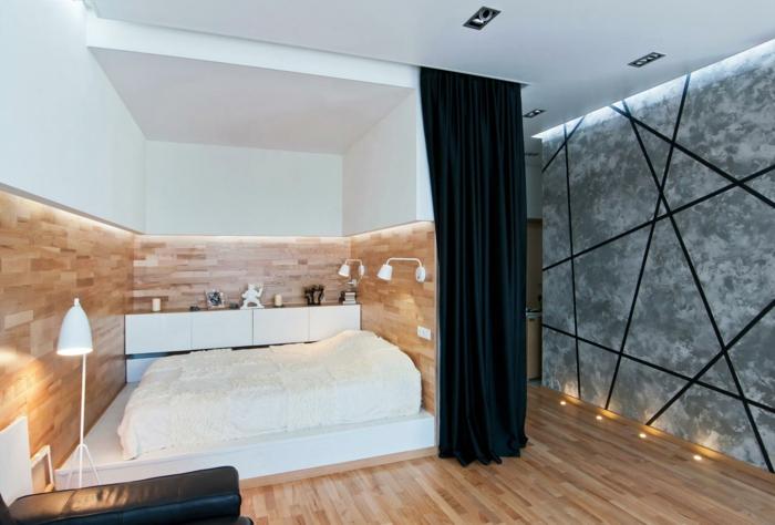 estrade en bois pour la chambre
