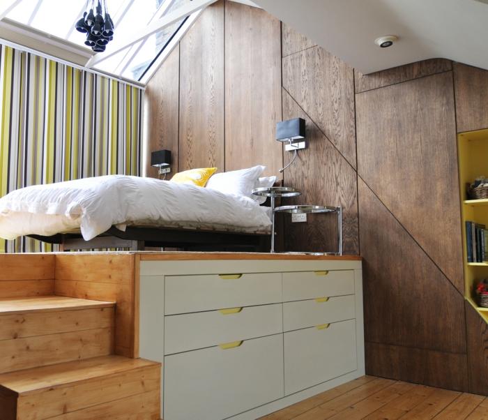 estrade en bois pour lit