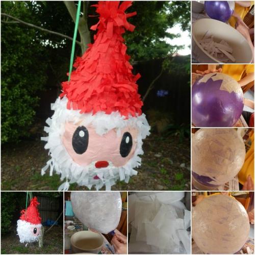 fabriquer un Père Noël boule en plastique