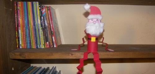 fabriquer un Père Noël décoration pour étagère
