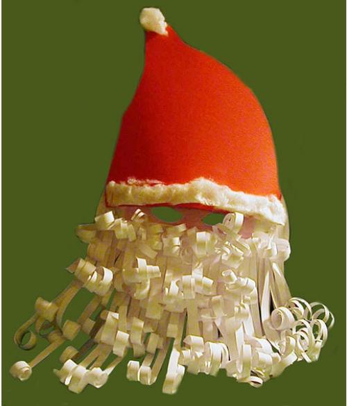 fabriquer un Père Noël masque pour s'amuser