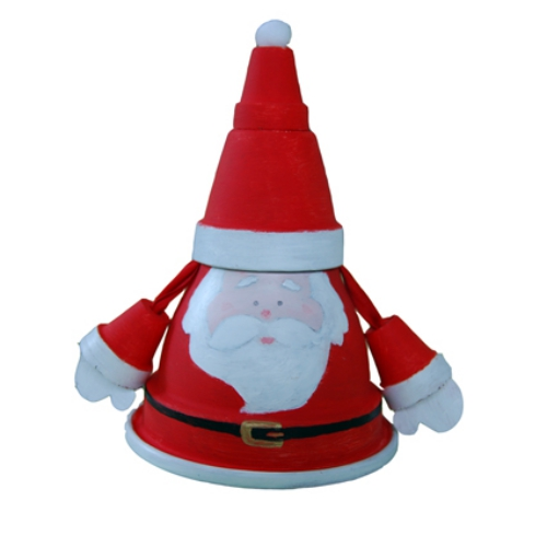 fabriquer un Père Noël pots de terre