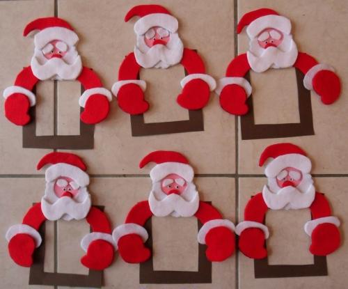 fabriquer un Père Noël pour coller sur les carreaux de la cuisine