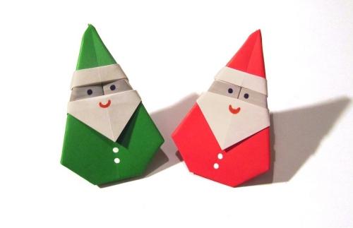 fabriquer un Père Noël rouge et vert