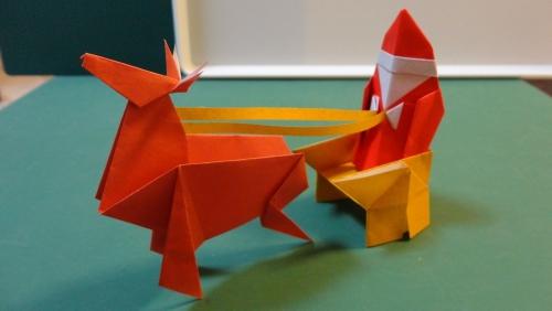 fabriquer un Père Noël un ensemble origami
