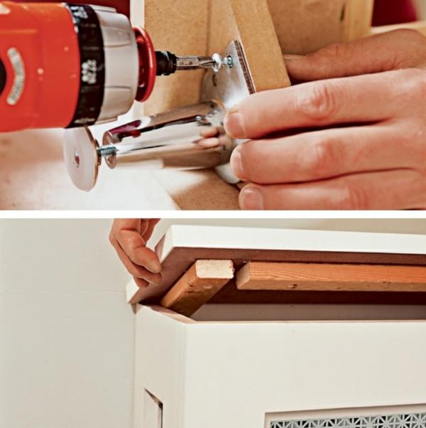 fabriquer un cache-radiateur avec pieds