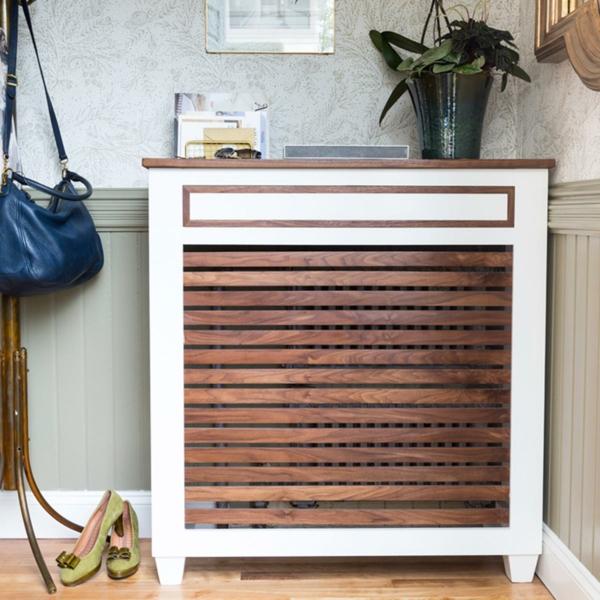 fabriquer un cache-radiateur de style mi-siècle avec tiroir