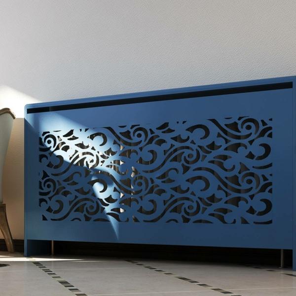 сделать окрашенную в стиле барокко деревянную крышку радиатора