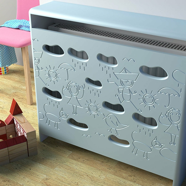 fabriquer un cache-radiateur en métal chambre d'enfants