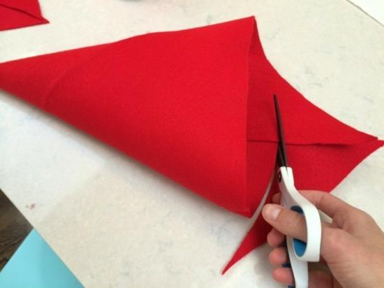 fabriquer un chapeau de gnome de noël